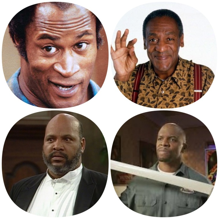 Black TV Dads collage